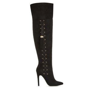 Izabella Rue Over the Knee Thigh High Boot 7.5 BLK
